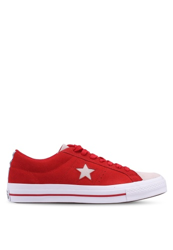 Converse red One Star Woven Era Ox Sneakers DD2C0SH32A2A37GS_1