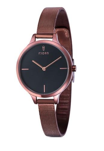 Gesprit part timeYDA 金屬網眼圓框手錶, 錶類, 飾品配件