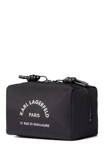 KARL LAGERFELD black Rue St Guillaume Washbag 1BEE6ACA6A2881GS_1