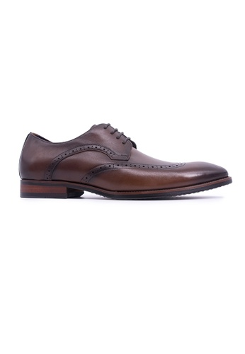 Rad Russel brown Rad Russel Lace-up Derby with Wingtips - Brown 36B26SHA67B616GS_1