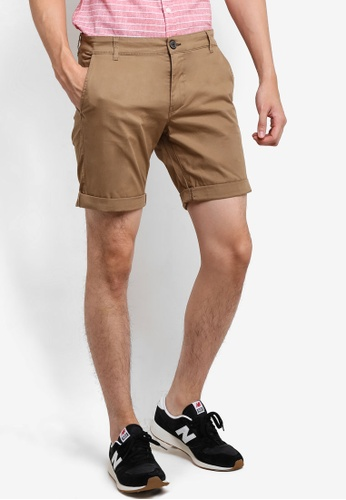 Selected Homme brown Chino Shorts SE364AA57EQCMY_1