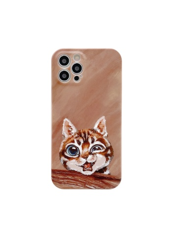 Kings Collection brown Oil Painting Cat Pattern iPhone 11 Case (KCMCL2351) 02A4DAC67146CEGS_1