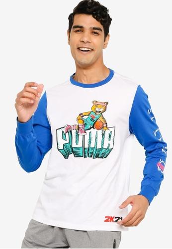 PUMA 白色 2K 長袖 Men's Basketball T恤 ABE53AA570BD1CGS_1
