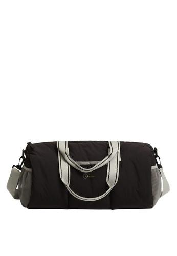 MANGO KIDS black Technical Fabric Sports Duffle Bag B05E4KCC418E3DGS_1