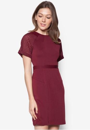Nicole 網眼拼接連身裙, 服飾esprit 品牌, 洋裝