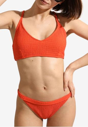PIMKIE orange Wrinkled Swimsuit Briefs D6A4AUS3B91151GS_1