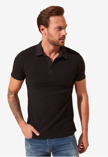 Trendyol black Casual Polo Shirt 6620FAA429023AGS_1