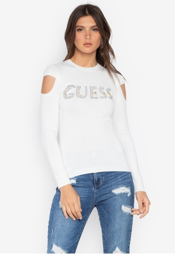 430815f8fcf13 Shop Guess  Holly Baroque Logo Sweater Online on ZALORA Philippines