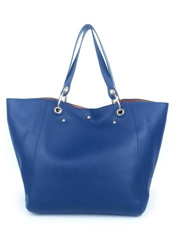 BELLE LIZ blue Simple Classic Design Ladies PU Handbag Navy Blue 771ABAC40D5A90GS_1