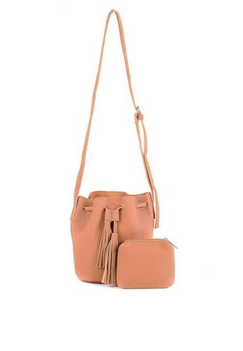House of Bai pink Vienna Drawstring Bucket bag HO716AC0JI1HPH_1