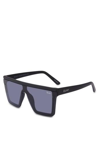 Quay Australia black Hindsight Sunglasses 3E4DAGLC5AE22FGS_1