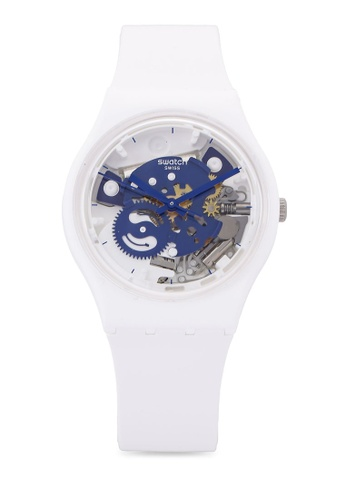 Swatch white Time To Blue Small Watch 7BDF6ACEF8FAEBGS_1