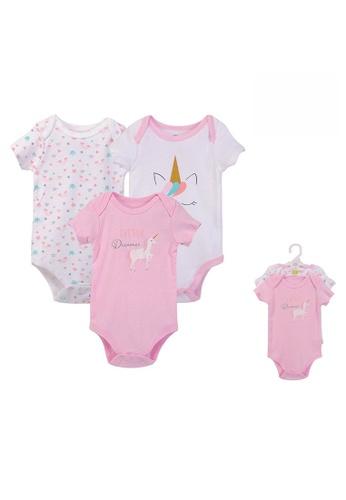 Little Kooma pink Hudson Baby Bodysuits 3 Piece Pack Little Dreamer 57682 - 0512 DF261KA3537775GS_1