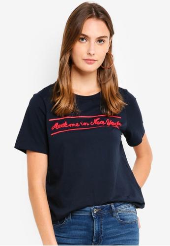 ESPRIT navy Short Sleeve T-Shirt 6551EAA49743A1GS_1