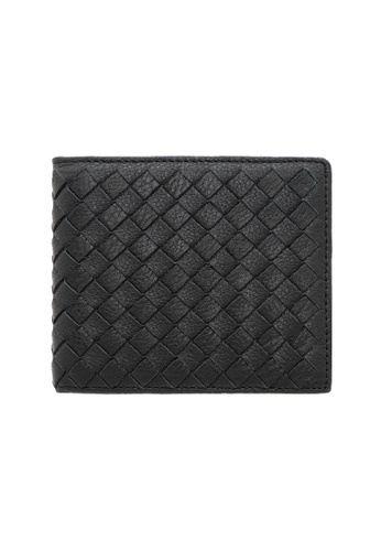 Jack Studio black Jack Studio Weaved Leather Bifold Wallet with Coin Pouch JWC 1572 36B4CAC4A6A758GS_1