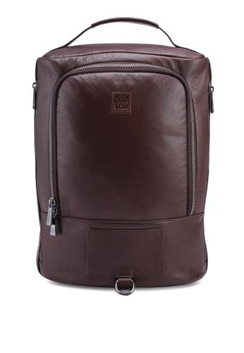 Volkswagen brown Genuine Leather Backpack D873BAC2DCD54CGS_1