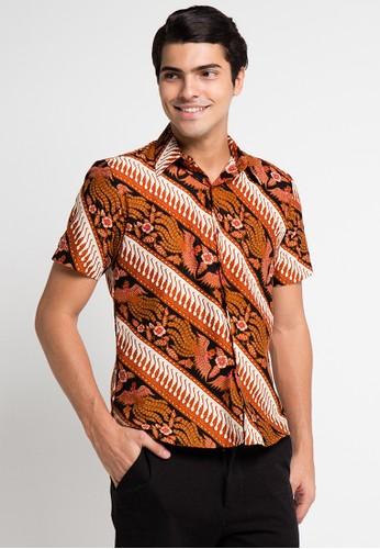 Batik Putra Bengawan brown Hem Dobby P Sanjaya Sf Parang Pb BA088AA0UPE0ID_1