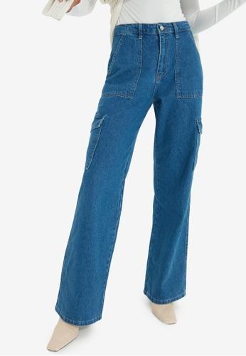 Trendyol blue High Waist Wide Leg Jeans 9223EAA2502FA3GS_1