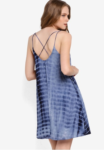 Something Borrowed blue Tie Dye Cami Dress BC565AA0206825GS_1