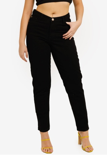 MISSGUIDED black V Front Riot Jeans BAAB3AA8F3EFFBGS_1