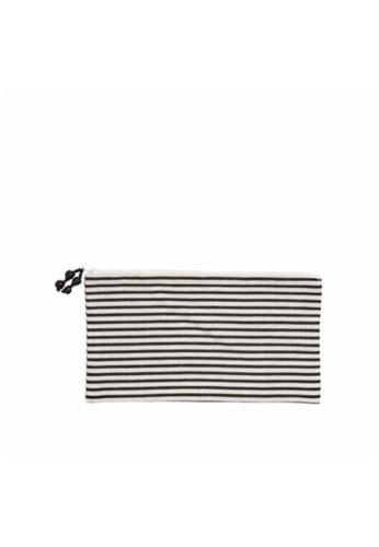 Stylodeco Clutch, Black and White Stripes, M 83EBDACBB14F23GS_1