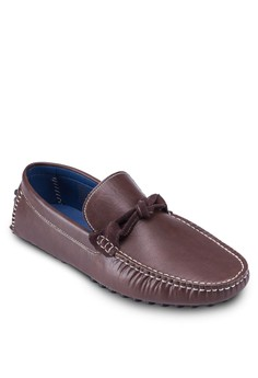 Faux Leather Bow Tie Moccasins