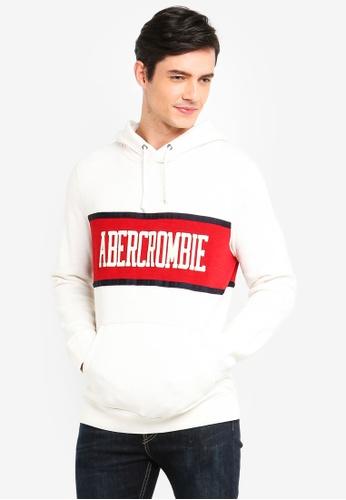 Abercrombie & Fitch 多色 雙色品牌刺繡帽T 6AC65AAAA5E1E5GS_1