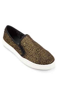 Metallic Snakeskin Loafers
