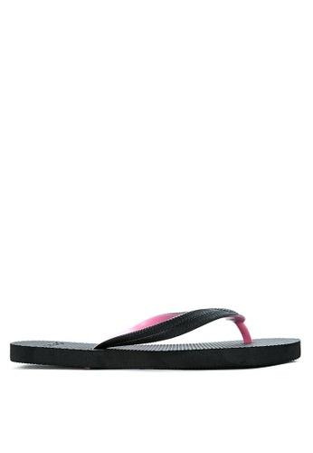 BENCH black Basic Rubber Slippers BE550SH57LVMPH_1