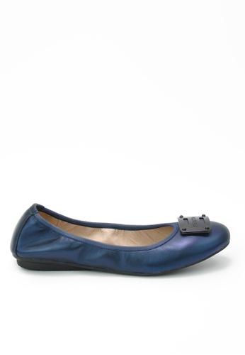 Twenty Eight Shoes blue Massage Metallic Leather Flats JD155 197A6SH2BB5299GS_1