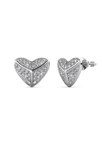 Her Jewellery silver Her Jewellery Shield Heart Earrings with 18K Gold Plated 97C24ACA3D7DE9GS_1