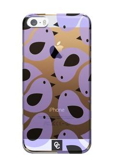 Casey Crazy - Birds In Purple Semi-Transparent Hard Case for iPhone 5,5s