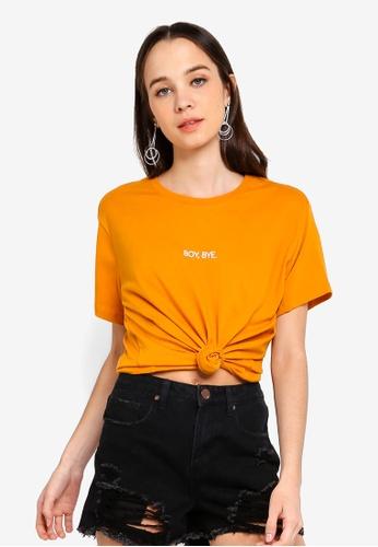 Cotton On gold Tbar Fox Graphic T shirt BA920AA65CAF0DGS_1