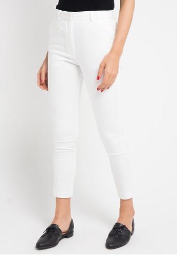 Geela white Basic Long Pants 4C5BBAABD7CF63GS_1