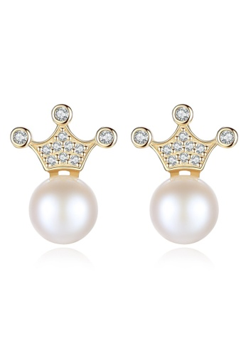 A.Excellence white Premium White Pearl Elegant Earring A6AF4AC0315428GS_1
