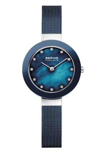 Bering silver Ceramic 11429-387 Blue 29 mm Women's Watch 30F0BACA43F358GS_1