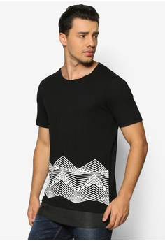 Dimensional Linework Double Layer Tee
