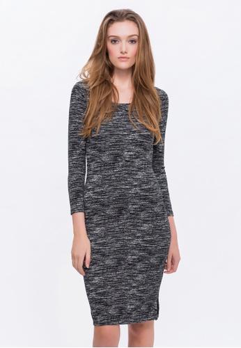 Alpha Style black Kaiya Knit Dress AL461AA0FVD1SG_1