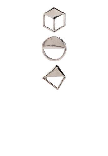三對幾何圖形耳環組合, 飾品配件esprit門市, 耳釘
