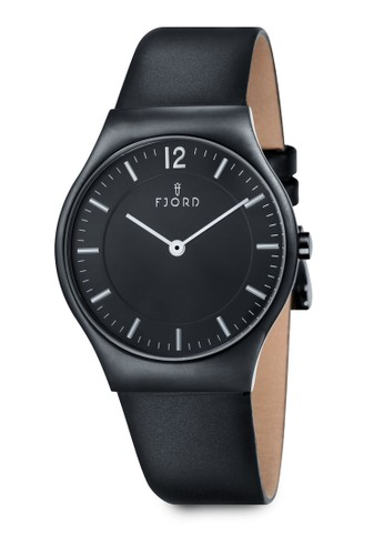 OLLesprit旗艦店E 雙指針皮革錶, 錶類, 皮革錶帶