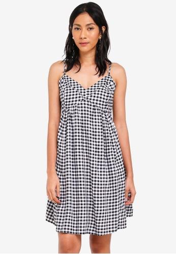 OVS black and white Check Cami Mini Dress 3B479AA4163FA3GS_1