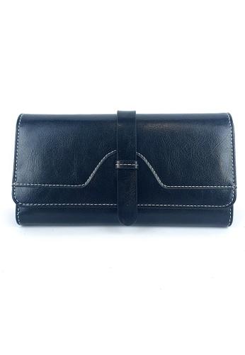 BELLE LIZ black Leather Ladies Multi Function Long Wallet Black CCCECAC64D580DGS_1