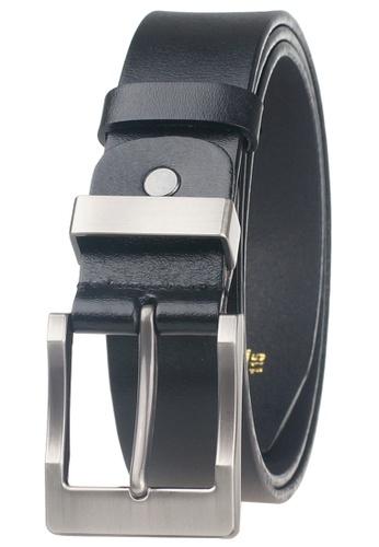 FANYU black Men Genuine Leather Belt Black 9CDD9ACF3D8549GS_1