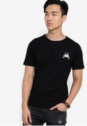 Flesh Imp 黑色 Skully Structural T-shirt FL064AA26VVLMY_1