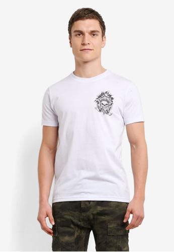 Graphite white Strangers T-Shirt GR677AA0SC9SMY_1