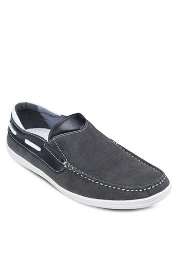 皮革拼接樂福鞋, 鞋, 船型esprit 價位鞋