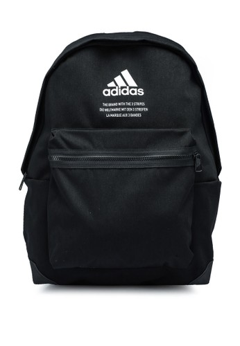 ADIDAS black classic twill fabric backpack 6C6ADAC701181BGS_1