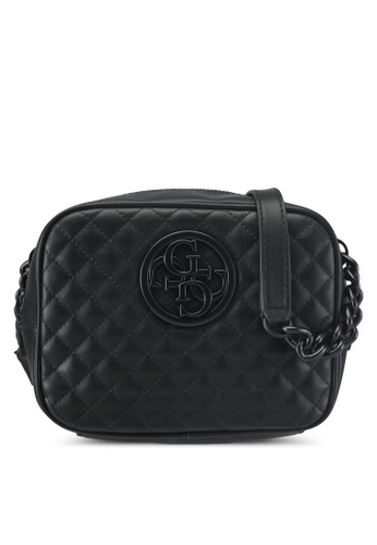 Guess black G Lux Crossbody Top Zip 4A416ACD61EA37GS_1