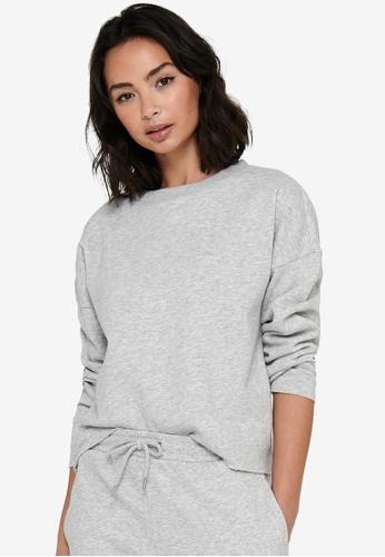 JACQUELINE DE YONG grey Cathrin Life Sweatshirt A2124AA75EE0DEGS_1