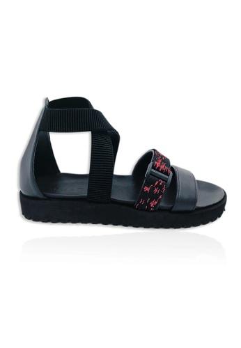 Yoke & Theam black Janus Sandal D78FCSH7016CD5GS_1
